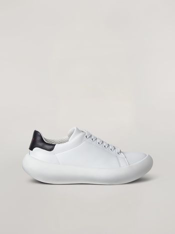 Marni  Leather BANANA sneakers with contrast insert Man f