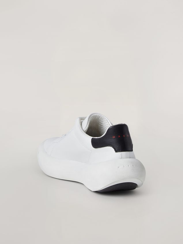 Marni  Leather BANANA sneakers with contrast insert Man