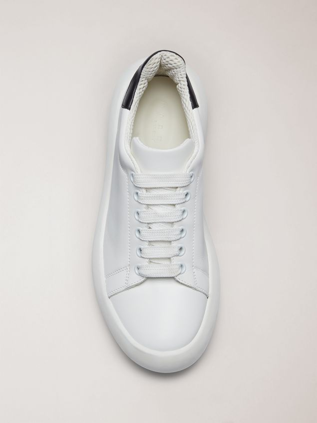 Marni  Leather BANANA sneakers with contrast insert Man - 4