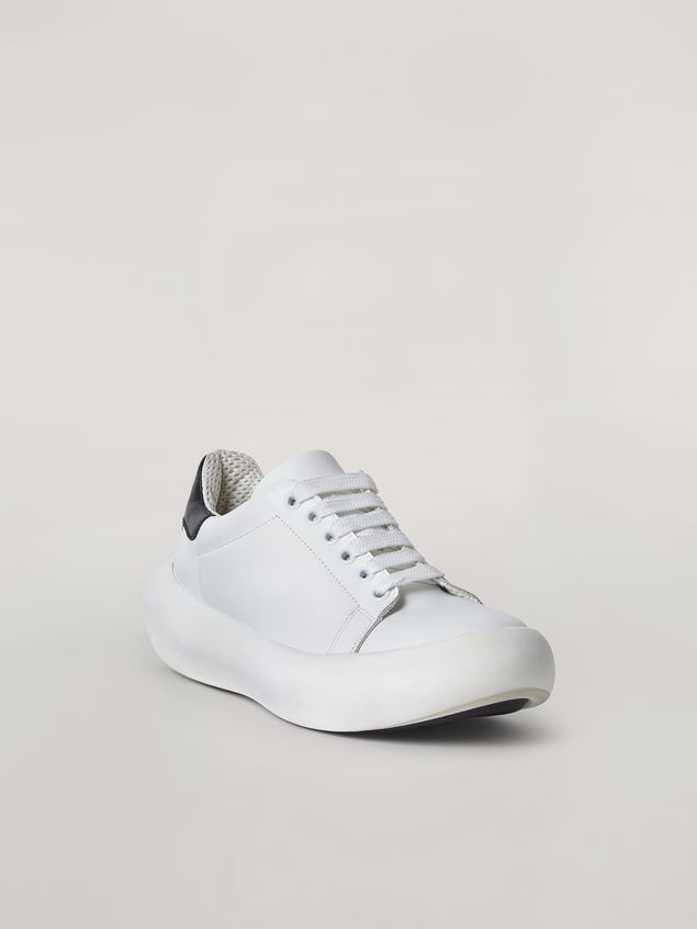 Marni  Leather BANANA sneakers with contrast insert Man - 2