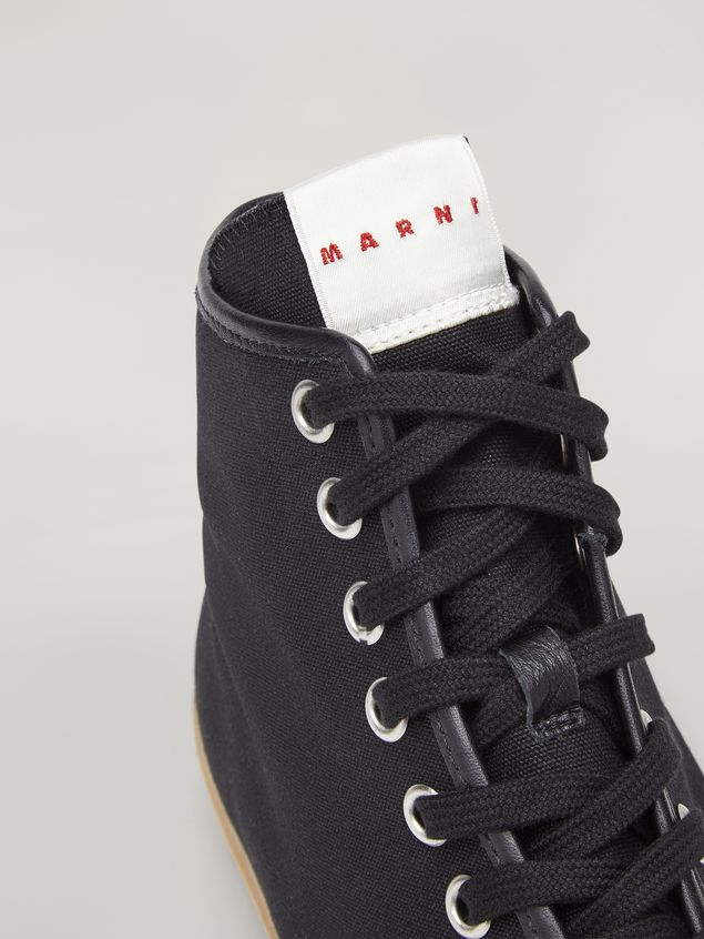 Marni High-top sneakers in cotton canvas black Man - 5