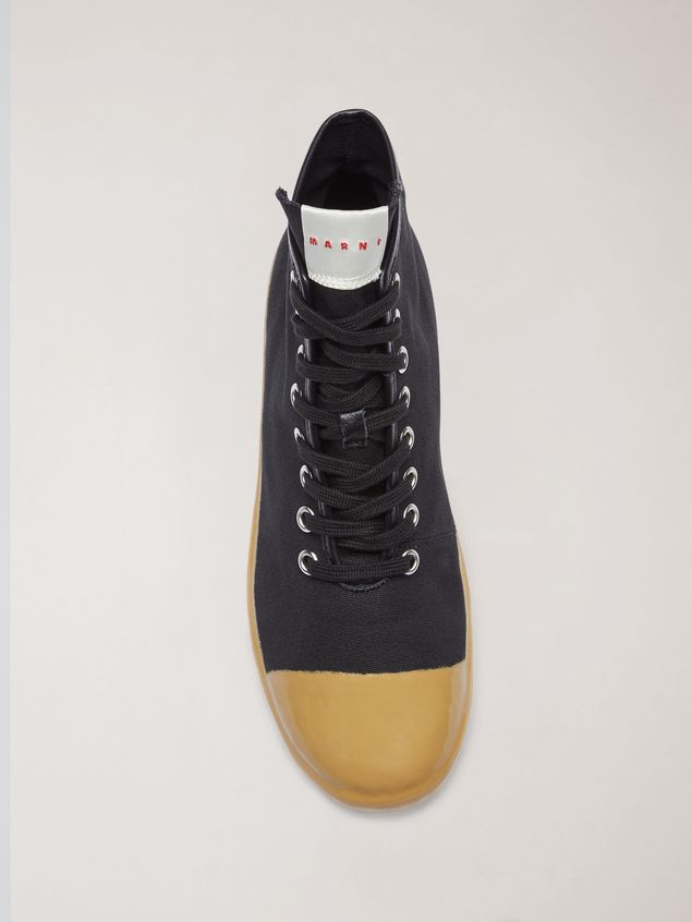 Marni High-top sneakers in cotton canvas black Man - 4