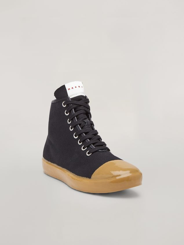 Marni High-top sneakers in cotton canvas black Man - 2
