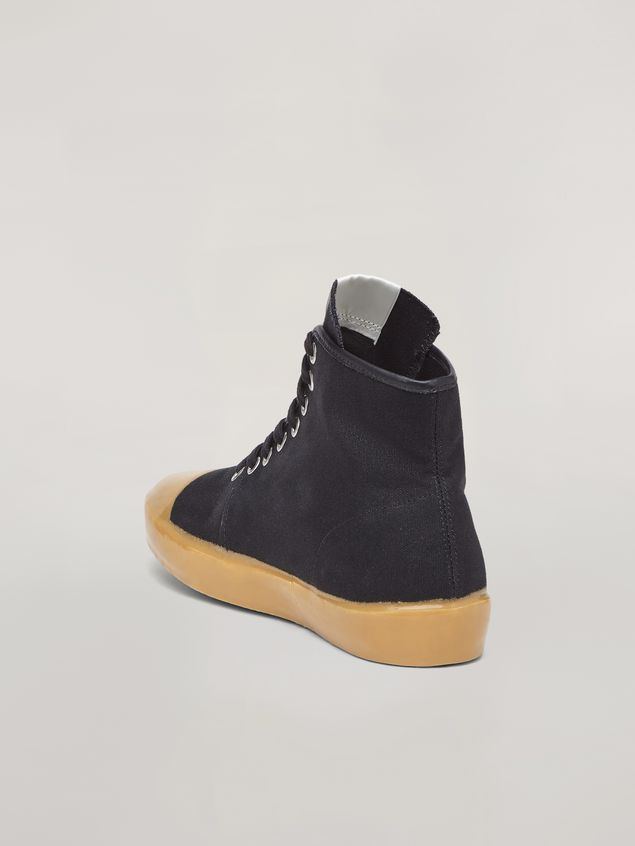 Marni High-top sneakers in cotton canvas black Man - 3