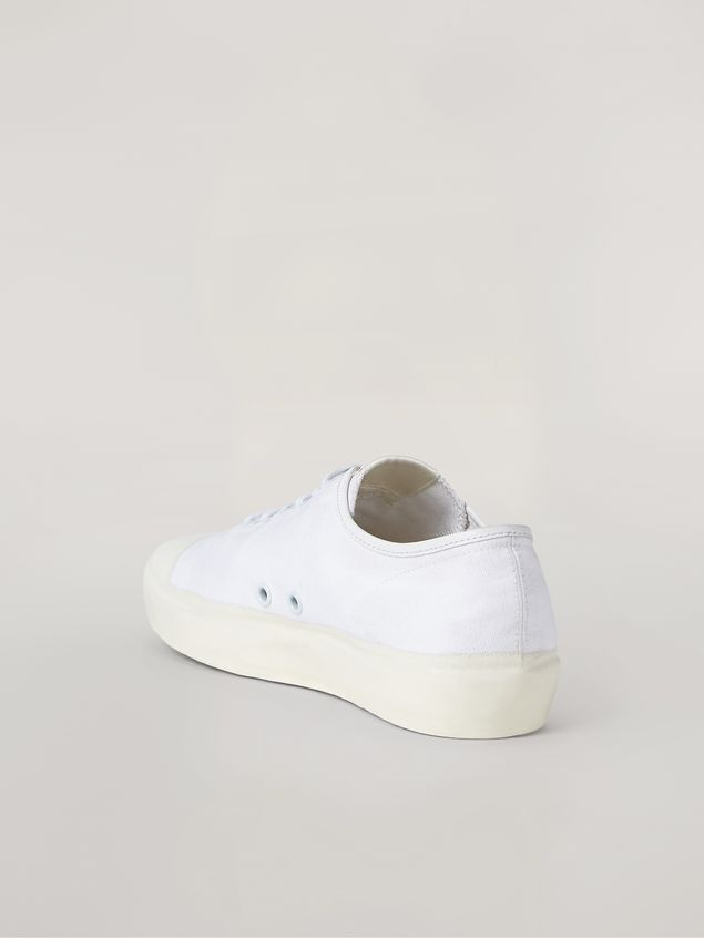 Marni Low-top sneakers in white cotton canvas Man