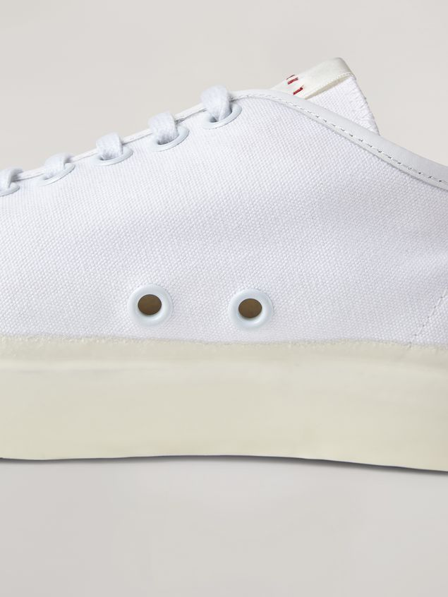 Marni Low-top sneakers in white cotton canvas Man - 5