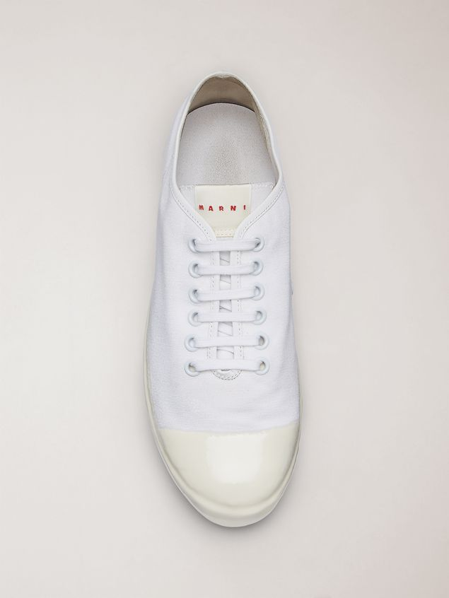 Marni Low-top sneakers in white cotton canvas Man - 4