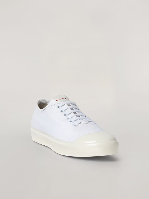 Marni Low-top sneakers in white cotton canvas Man - 2