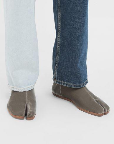 SHOES Tabi velvet slippers Khaki