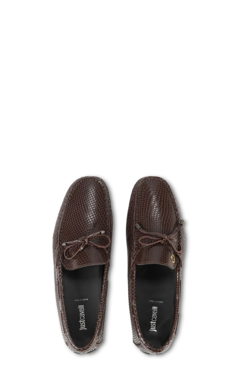 JUST CAVALLI Leather loafer Moccassins Man d