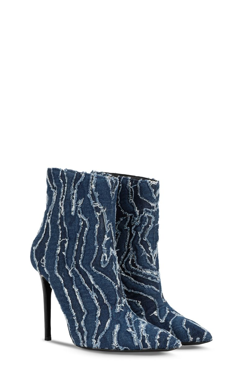 JUST CAVALLI Denim ankle boots Ankle boots Woman r