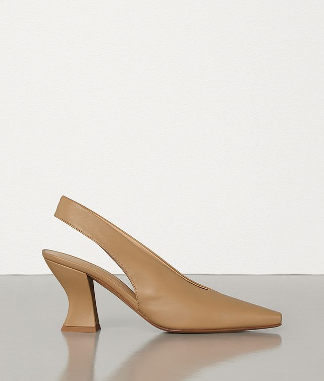 BOTTEGA VENETA ALMOND SLINGBACKS IN NAPPA DREAM Pump Woman fp