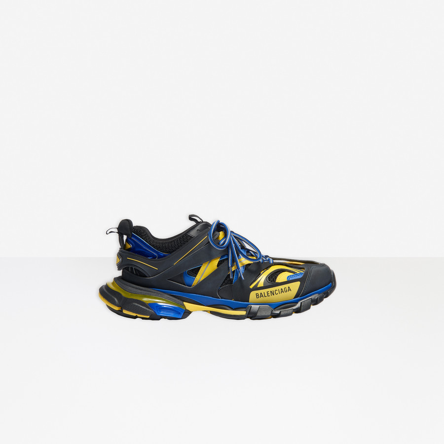 Track Sneaker BLACK/YELLOW/BLUE for Men