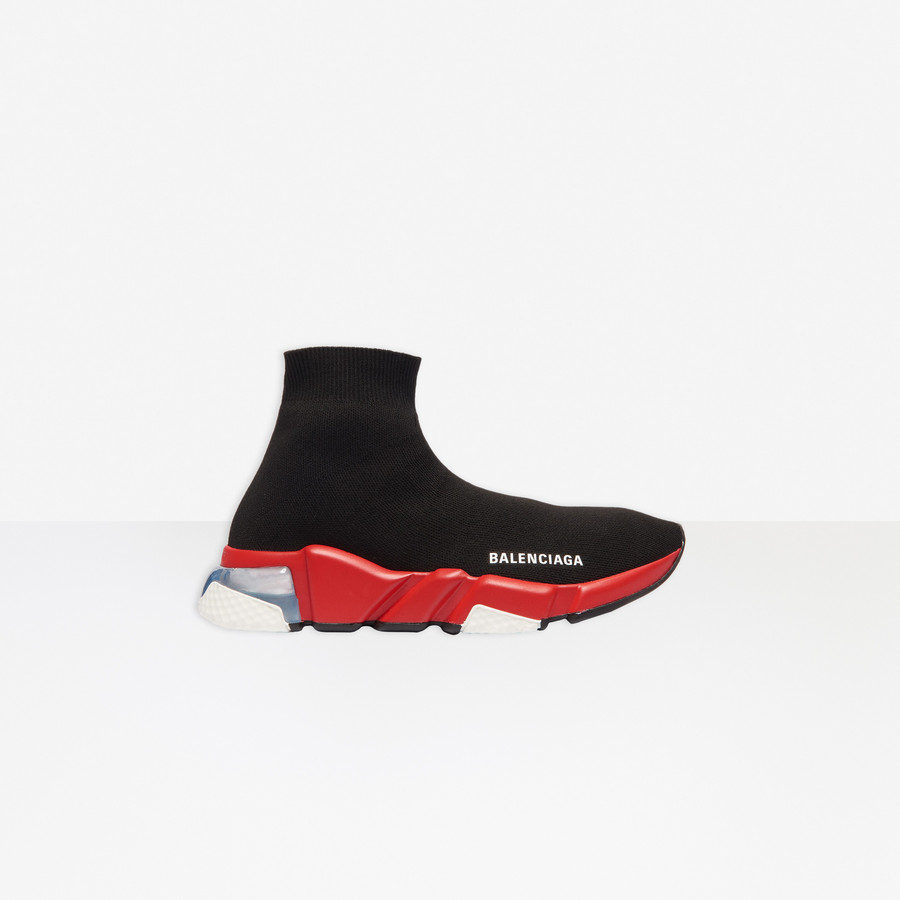Speed Clear Sole Sneaker BLACK/RED for