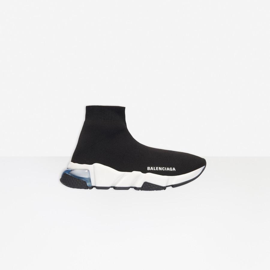 Speed Clear Sole Sneaker BLACK / WHITE