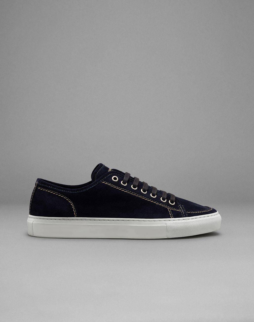 BRIONI Navy Blue Suede Sneakers Sneakers Man f