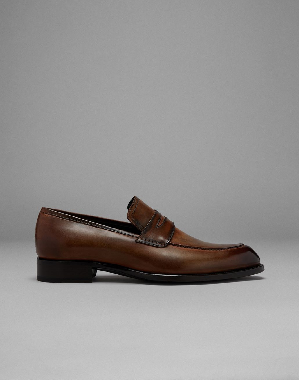 BRIONI Brown Loafers Formal shoes Man f