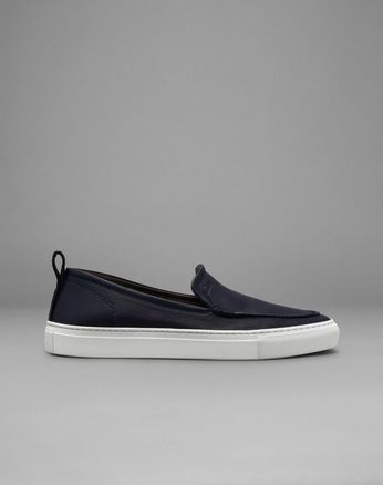 Navy Blue Slip-On Sneakers