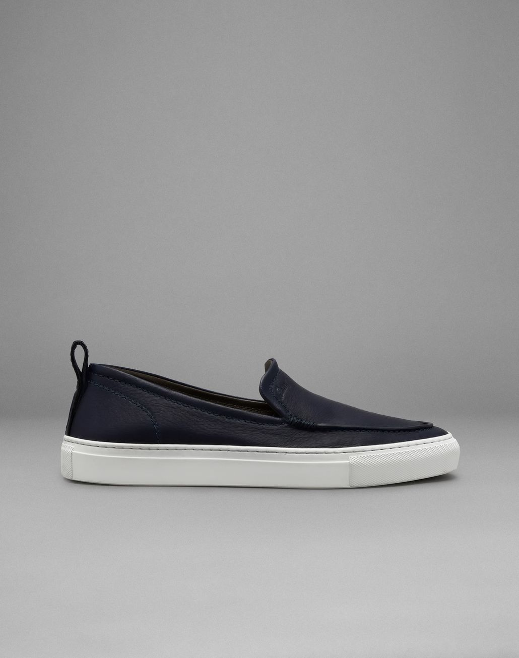 BRIONI Navy Blue Slip-On Sneakers Sneakers Man f