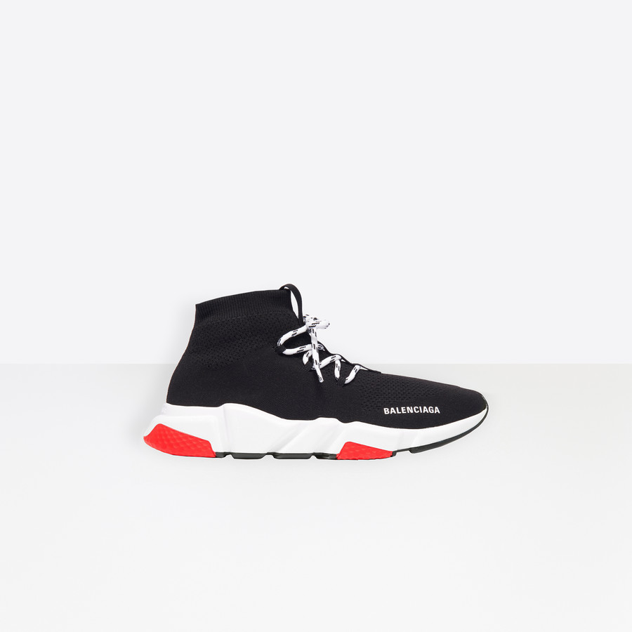 Speed Lace Up Sneaker BLACK/RED/WHITE