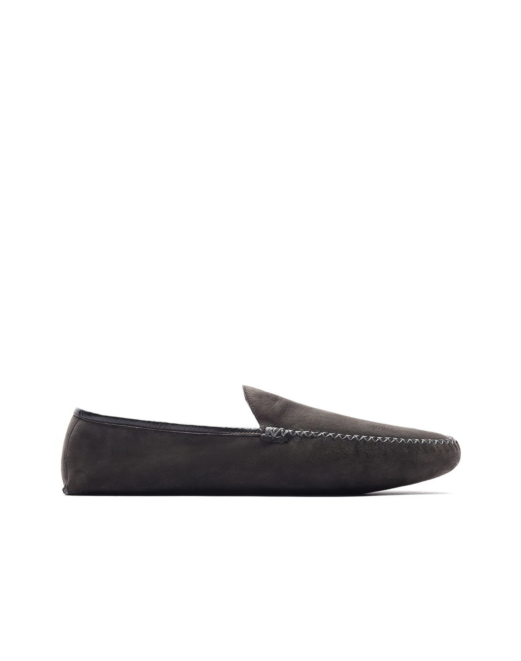 BRIONI Dark Brown Slippers Loafers Man f