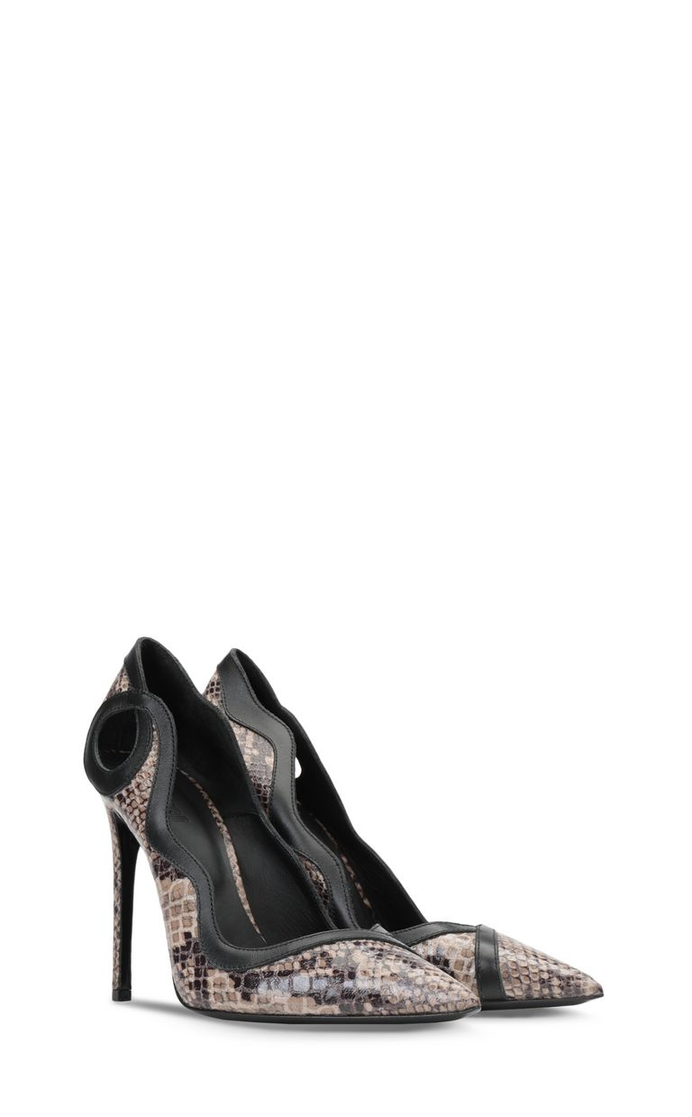 JUST CAVALLI Python-patterned court shoe Pump Woman r