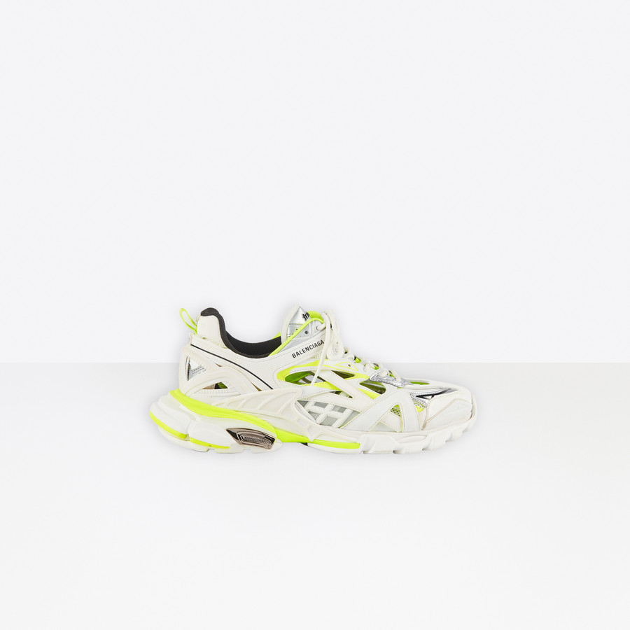 Track 2 Sneaker White Fluo Yellow For Men Balenciaga