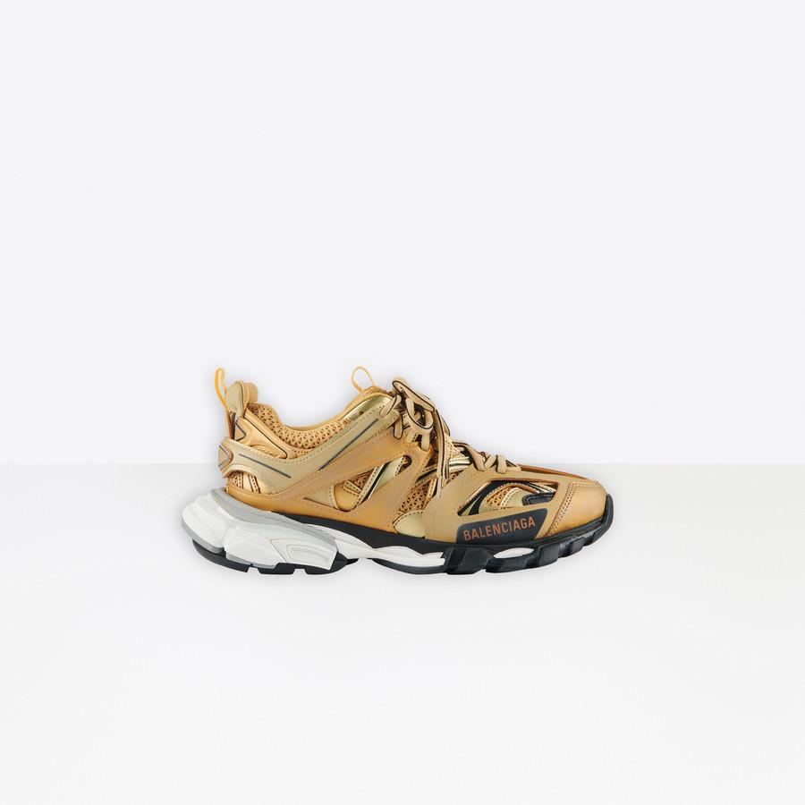 Track Sneaker Gold for Women | Balenciaga