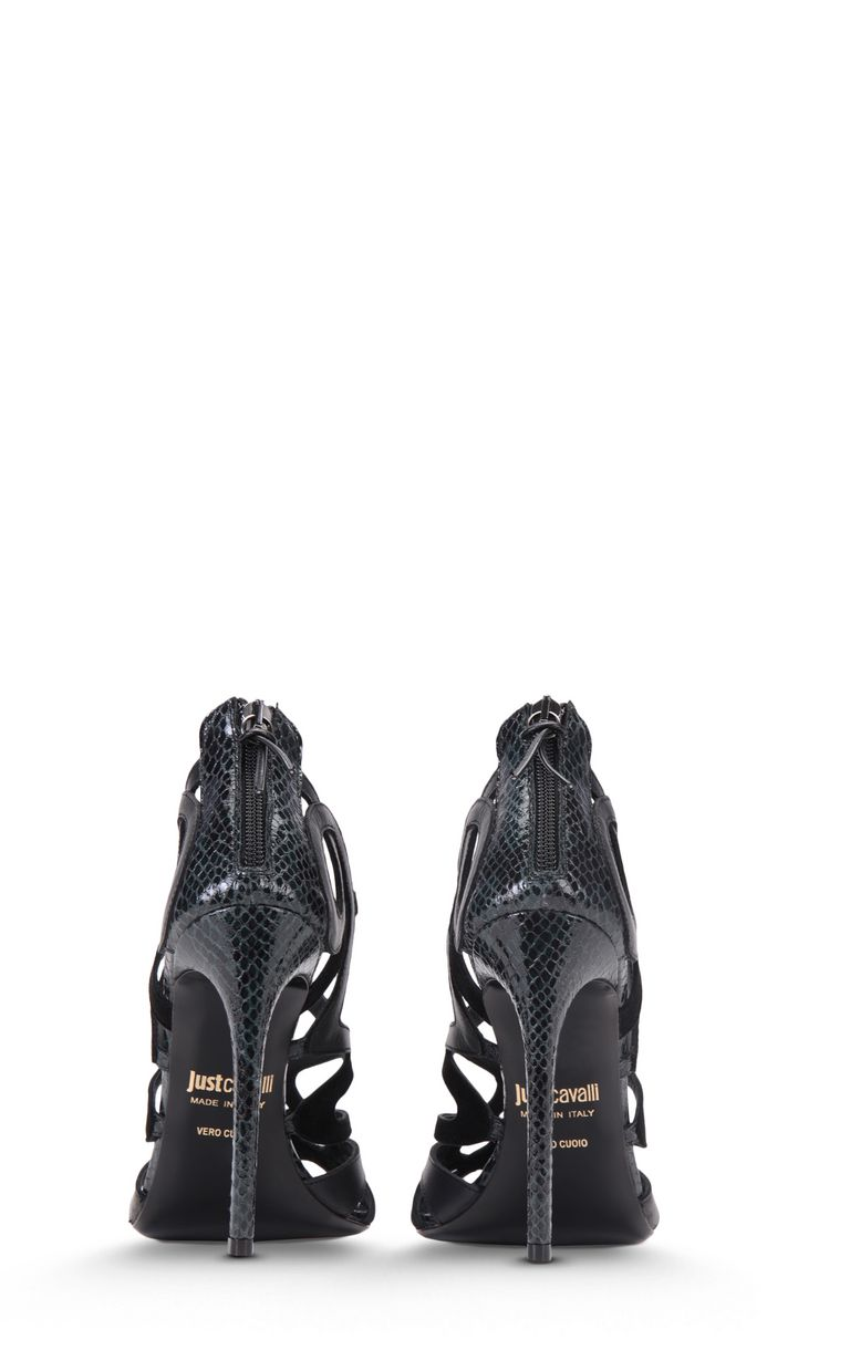 JUST CAVALLI Snake-detailed sandals Sandals Woman d