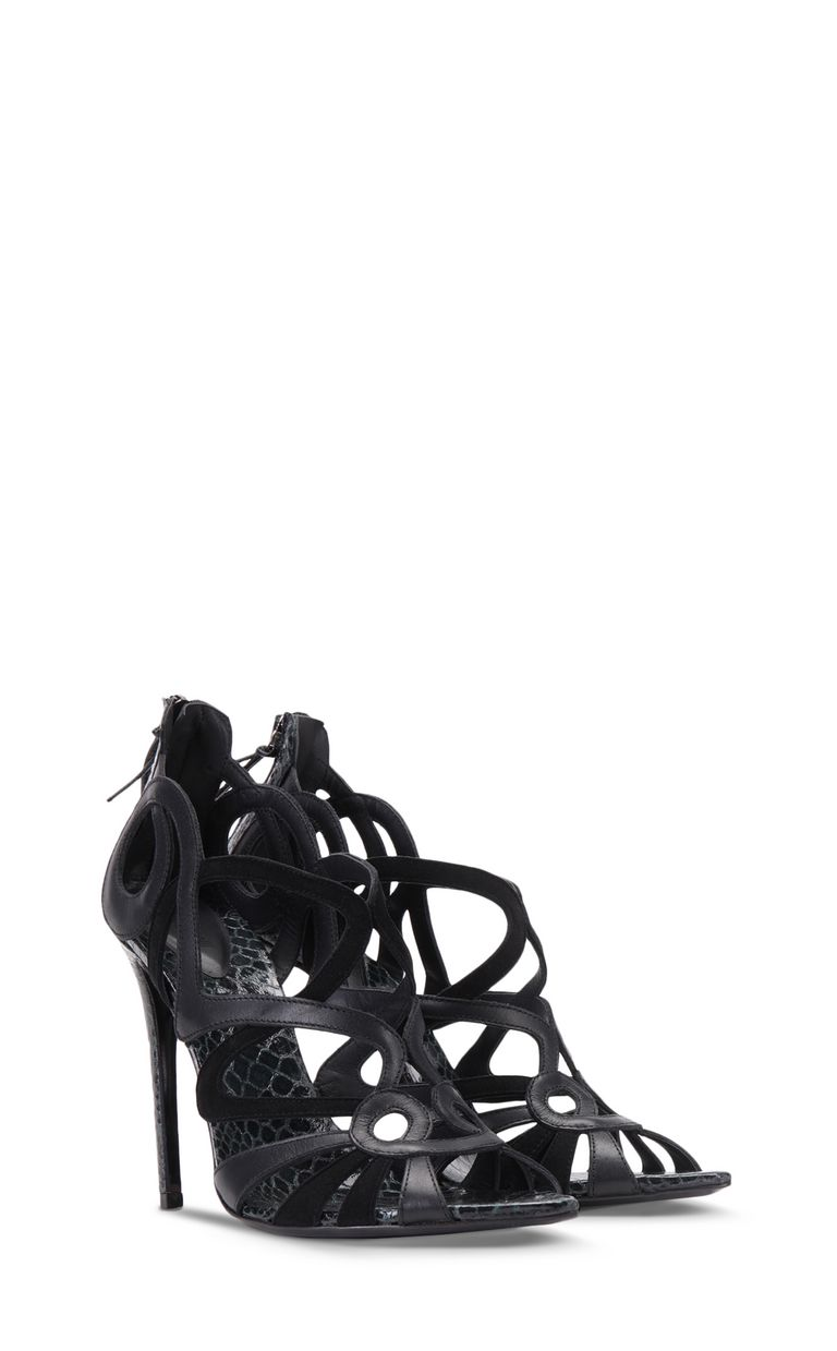 JUST CAVALLI Snake-detailed sandals Sandals Woman r