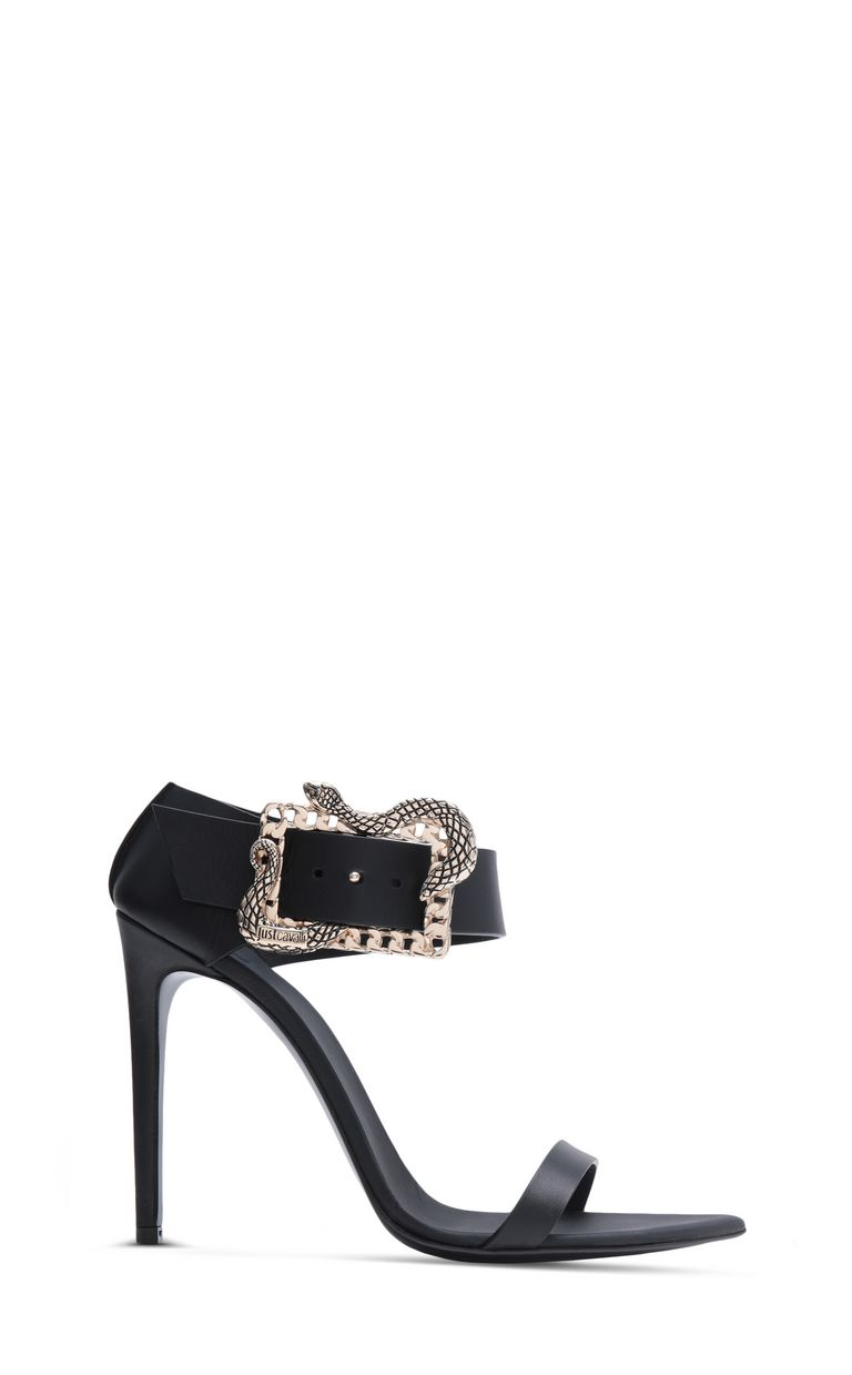 JUST CAVALLI Snake-buckle sandals High-heeled sandals Woman f