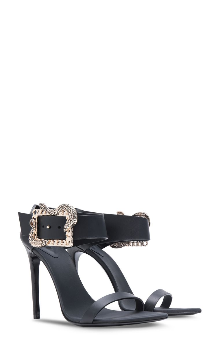 JUST CAVALLI Snake-buckle sandals High-heeled sandals Woman r