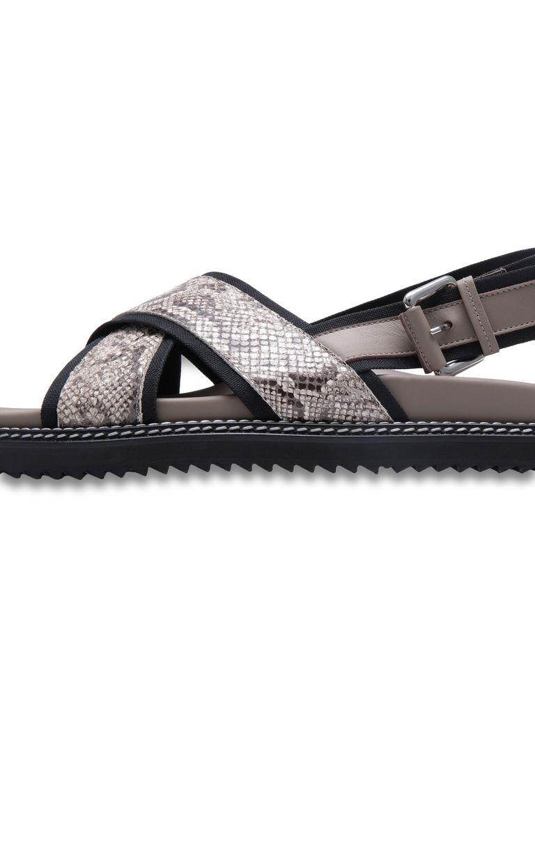 JUST CAVALLI Python-print crossover sandals Sandals Man e