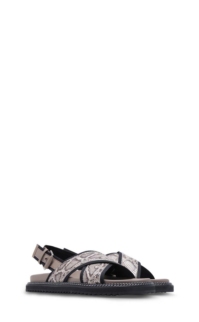 JUST CAVALLI Python-print crossover sandals Sandals Man r