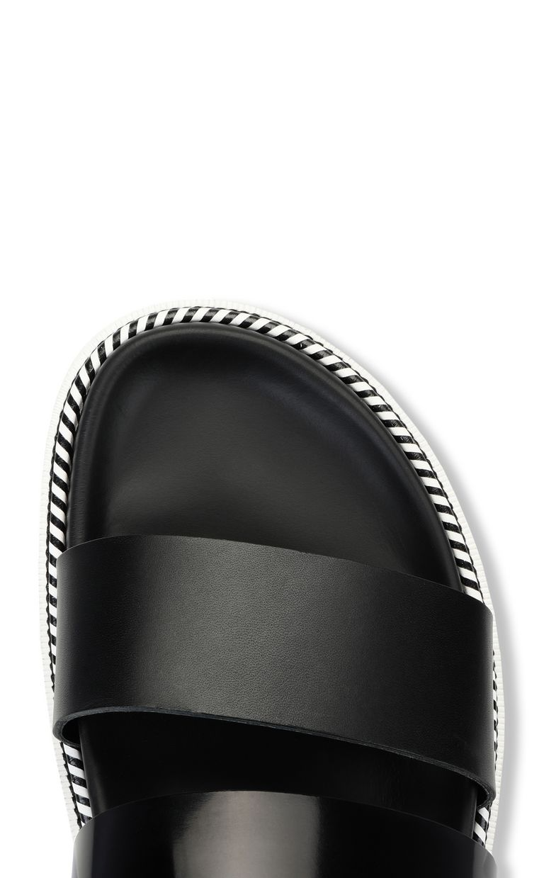 JUST CAVALLI Black-leather sandals Sandals Man e