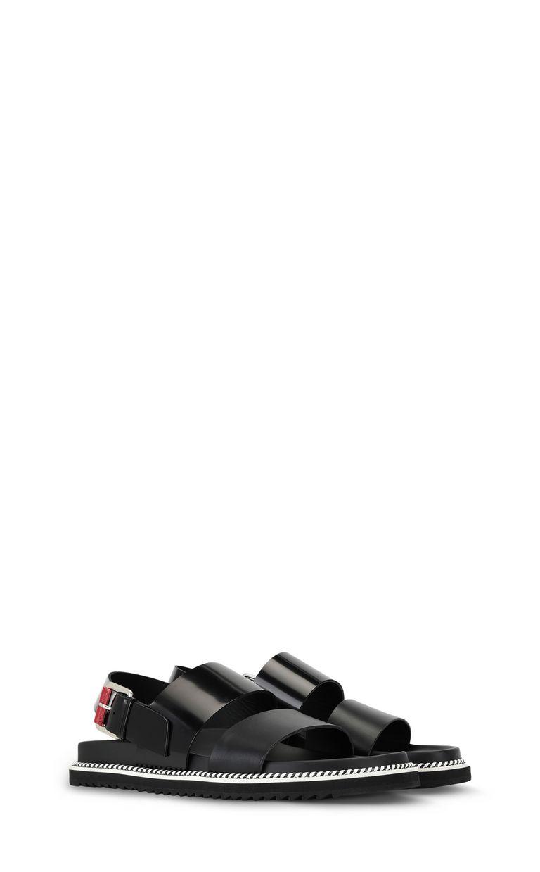 JUST CAVALLI Black-leather sandals Sandals Man r