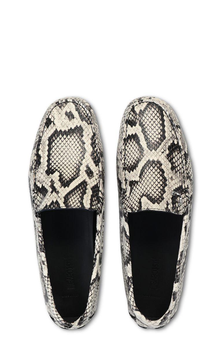 JUST CAVALLI Python-print leather loafer Moccassins Man d