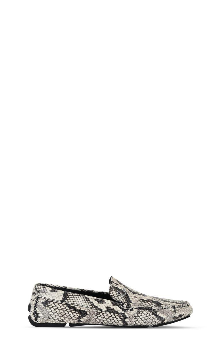JUST CAVALLI Python-print leather loafer Moccassins Man f