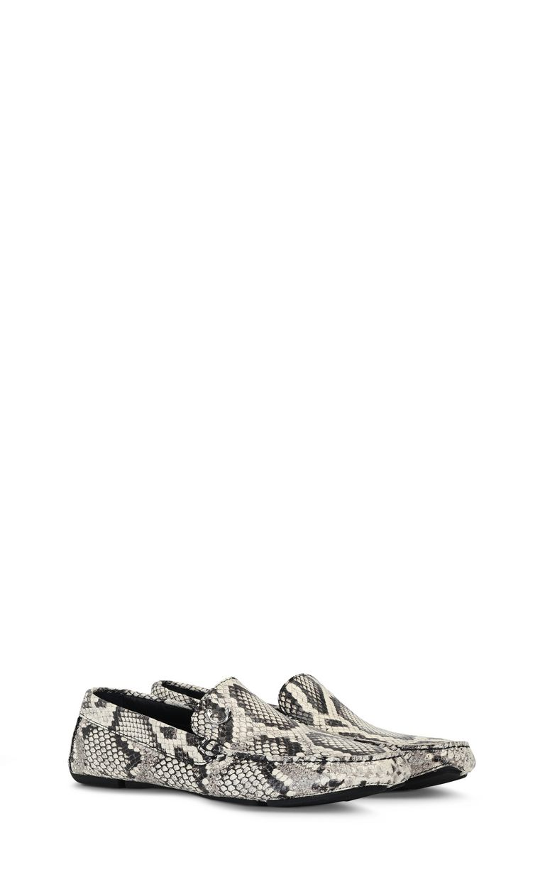 JUST CAVALLI Python-print leather loafer Moccassins Man r