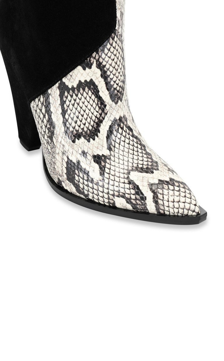 JUST CAVALLI Texas-style python-print ankle boot Ankle boots Woman e