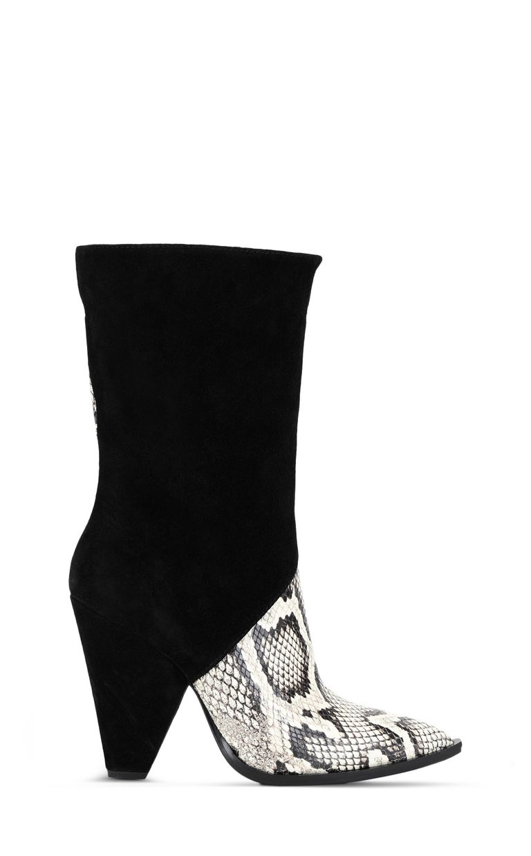 JUST CAVALLI Texas-style python-print ankle boot Ankle boots Woman f