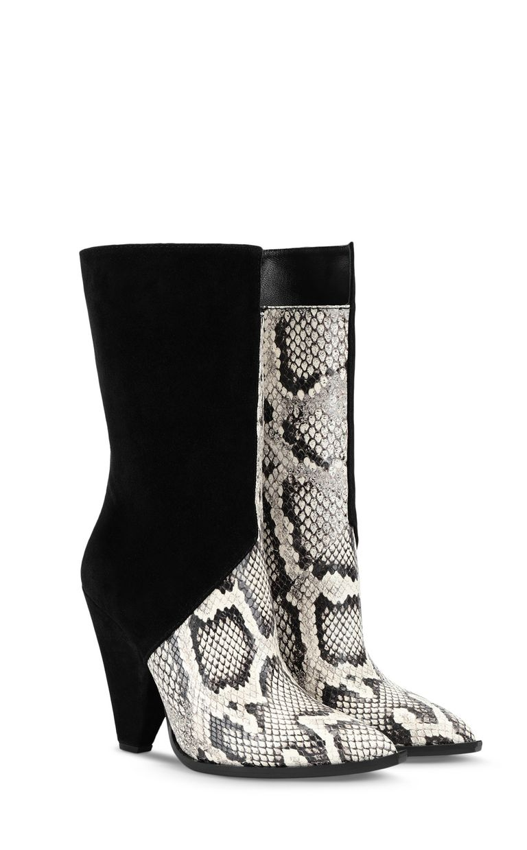 JUST CAVALLI Texas-style python-print ankle boot Ankle boots Woman r
