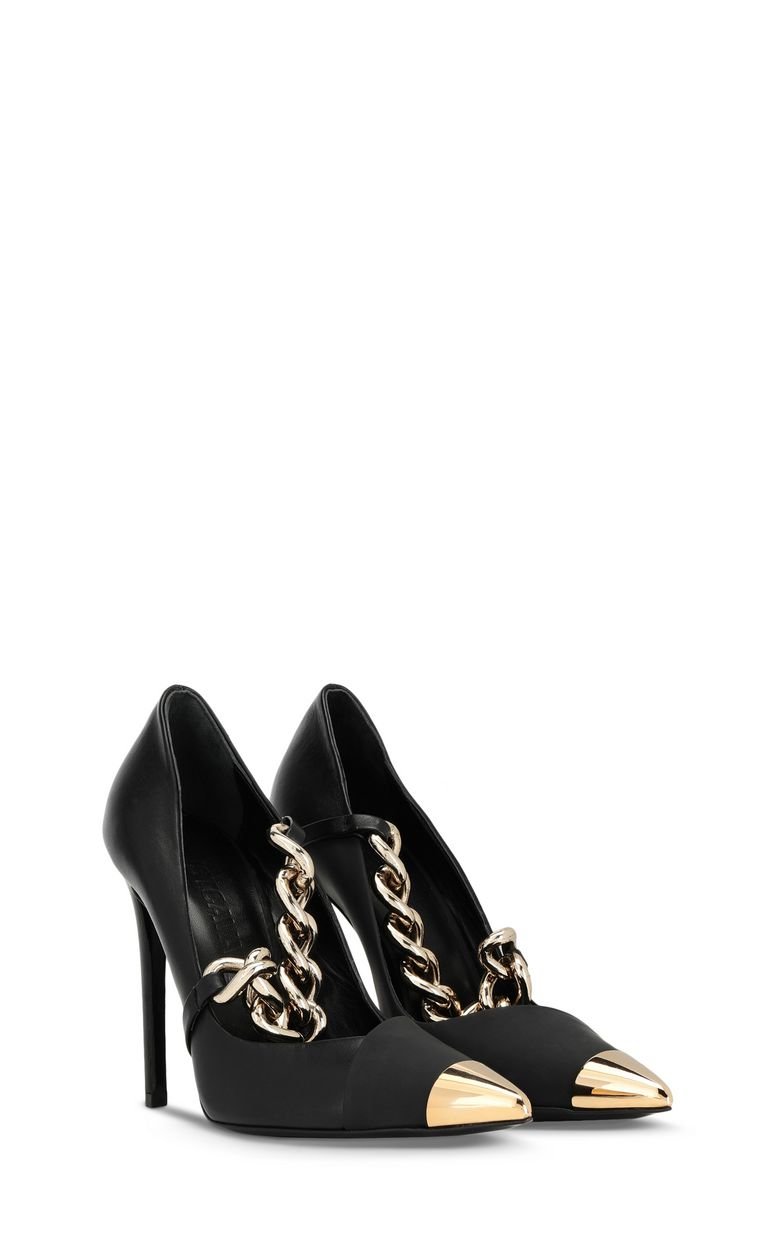 JUST CAVALLI Court shoe with chain detail Pump Woman r
