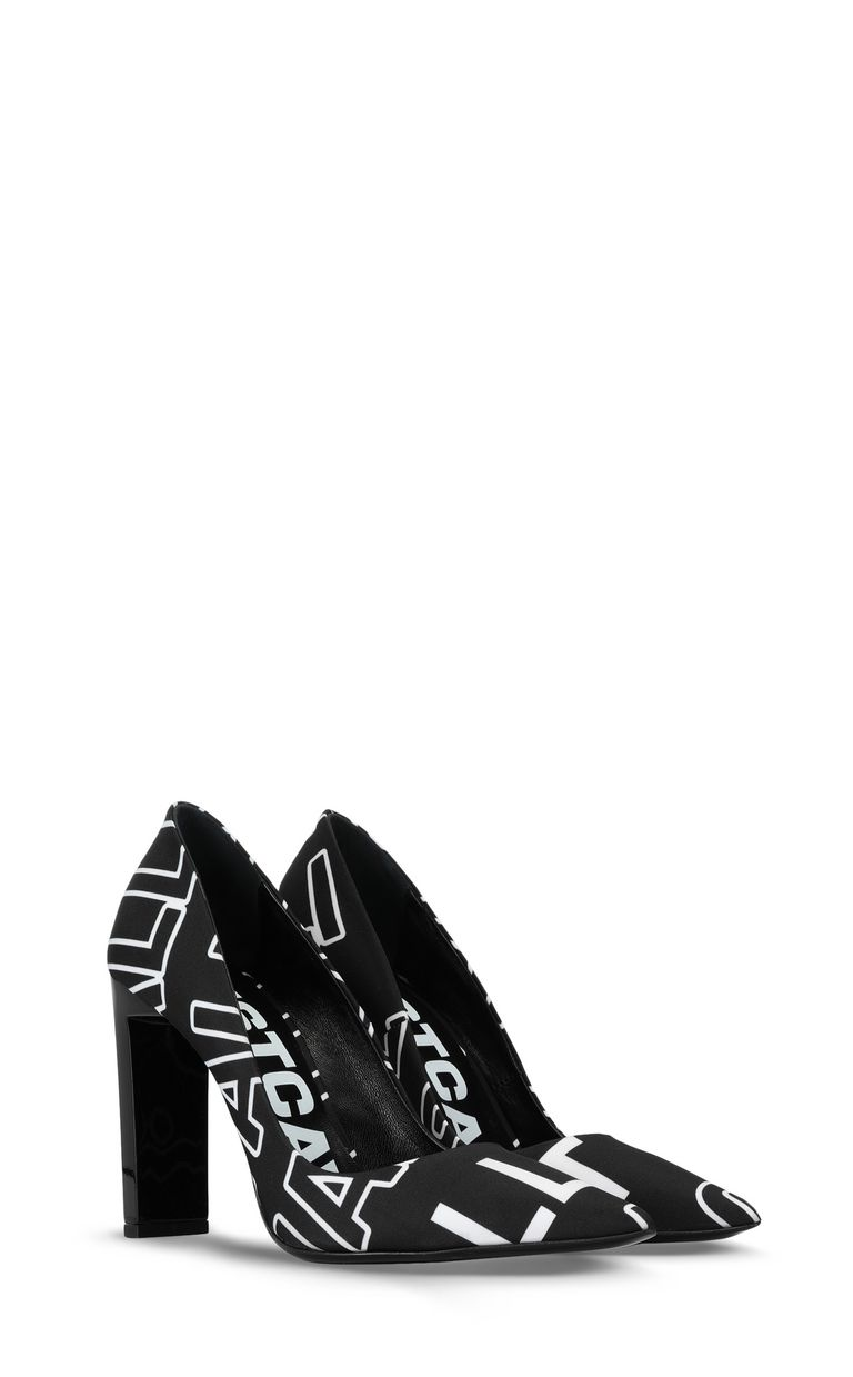 JUST CAVALLI Court shoe with logo print Pump Woman r