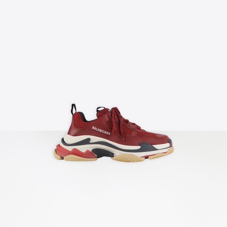 Triple S Sneaker BURGUNDY for Men