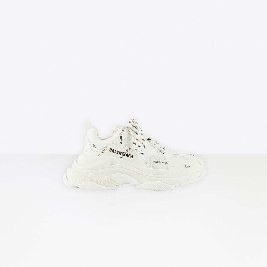 Allover Logo Triple S Sneaker WHITE