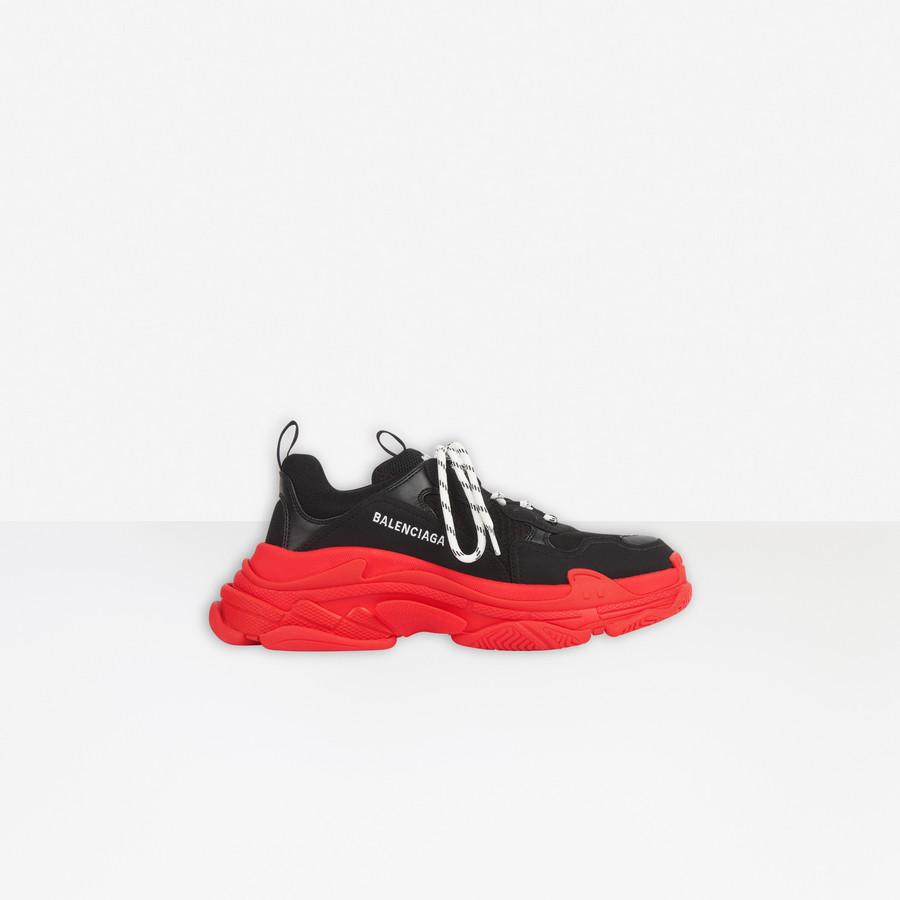 Triple S Sneaker BLACK/RED for Men