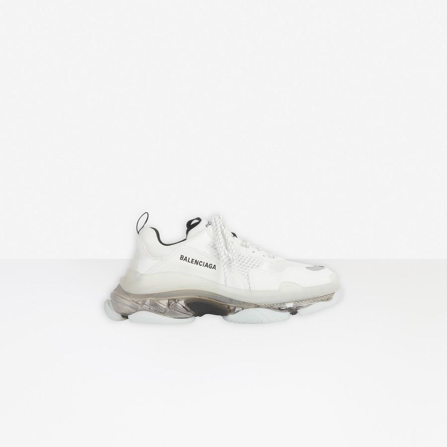 Triple S Clear Sole Sneaker WHITE/GREY