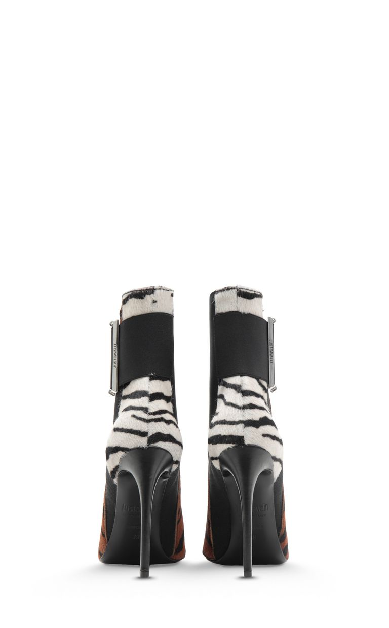 JUST CAVALLI Tiger-stripe pony skin ankle boot Ankle boots Woman d