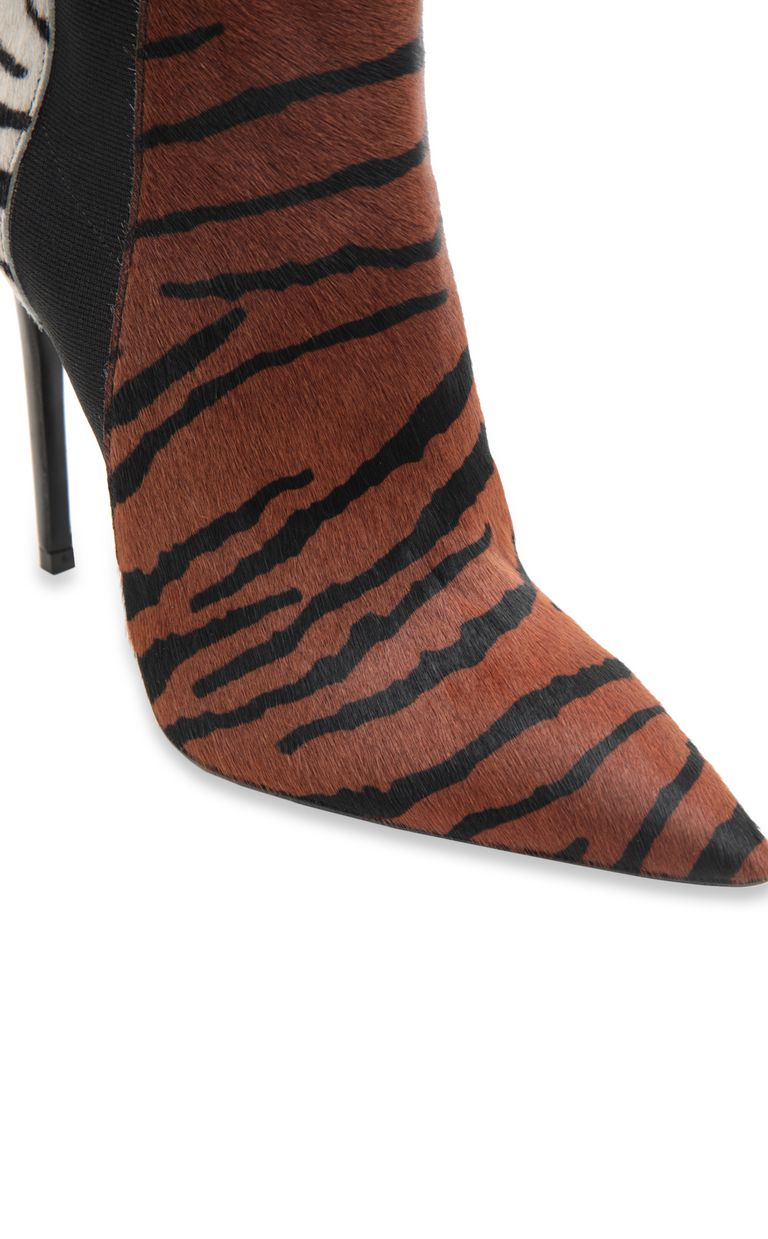 JUST CAVALLI Tiger-stripe pony skin ankle boot Ankle boots Woman e